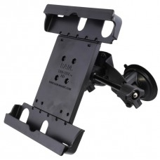 Dual Suction Cup EFB Mount with Short Arm & Retention Knob, and Large Tab-Tite™  Tablet Holder